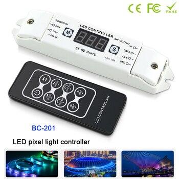 BC-201 LED Pixel SPI Strip Controller Digital Addressable Control WS2812 2801 2811 6803 8806 IC 1000 Pixels Tape Lights DC5V-24V bc 820 dmx512 to spi signal decoder convertor controller for lpd6803 8806 ws2811 2801 ws2812b 9813 led pixel light dc5v 24v