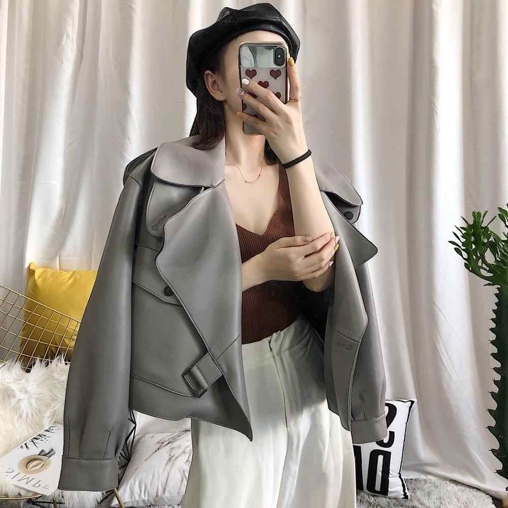 Woman Coats Natural Sheepskin Leather Fashion Female Jackets Long Sleeves Real Leather Sheepskin Short Overcoat Special Sale
