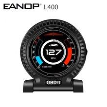 شاشة أمامية EANOP ، L400 HUD ، OBD ، عداد السرعة, 9 واجهة اختبار الفرامل ، OBDII ، كمبيوتر KMH/MPH