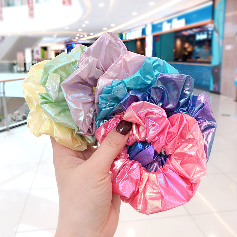 2020 Women Girls Candy Elegant Solid Soft Elastic Hair Bands Ladies Shiny Lovely Srunchies Rubber Bands Female Hair Accessories