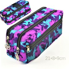 HOT large Canvas School Pencil case Bag Box for Girls Boys Washable School Supplies Gift 31738A Brand