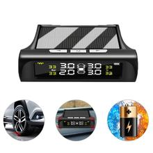 Car Tire Pressure Monitoring Tpms Wireless High Precision Solar External Buzzer Alarm Tire Pressure Detector practical tire pressure monitoring system pressure control system of high precision intelligent car alarm systems 433 92 mhz