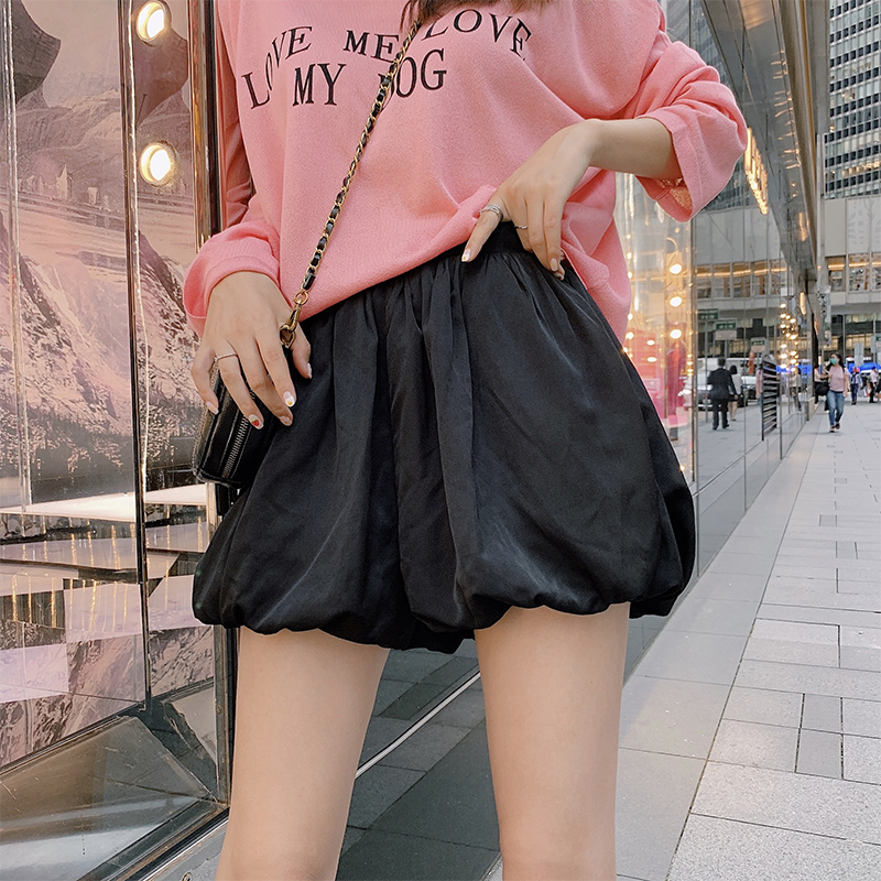 MIshow Casual Female Solid Shorts 2019 Summer New Arrival Korean Women High Waist Loose Lantern Shorts Pants MX19B2477