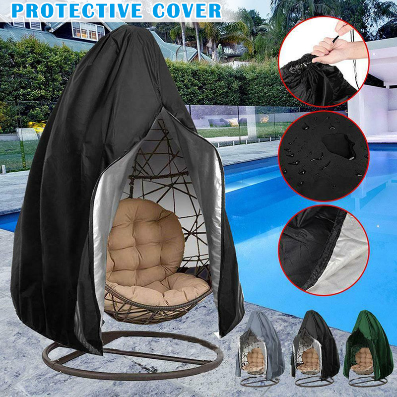 Hanging Swing Chair Cover Waterproof Rattan Egg Seat Protect Garden Outdoor