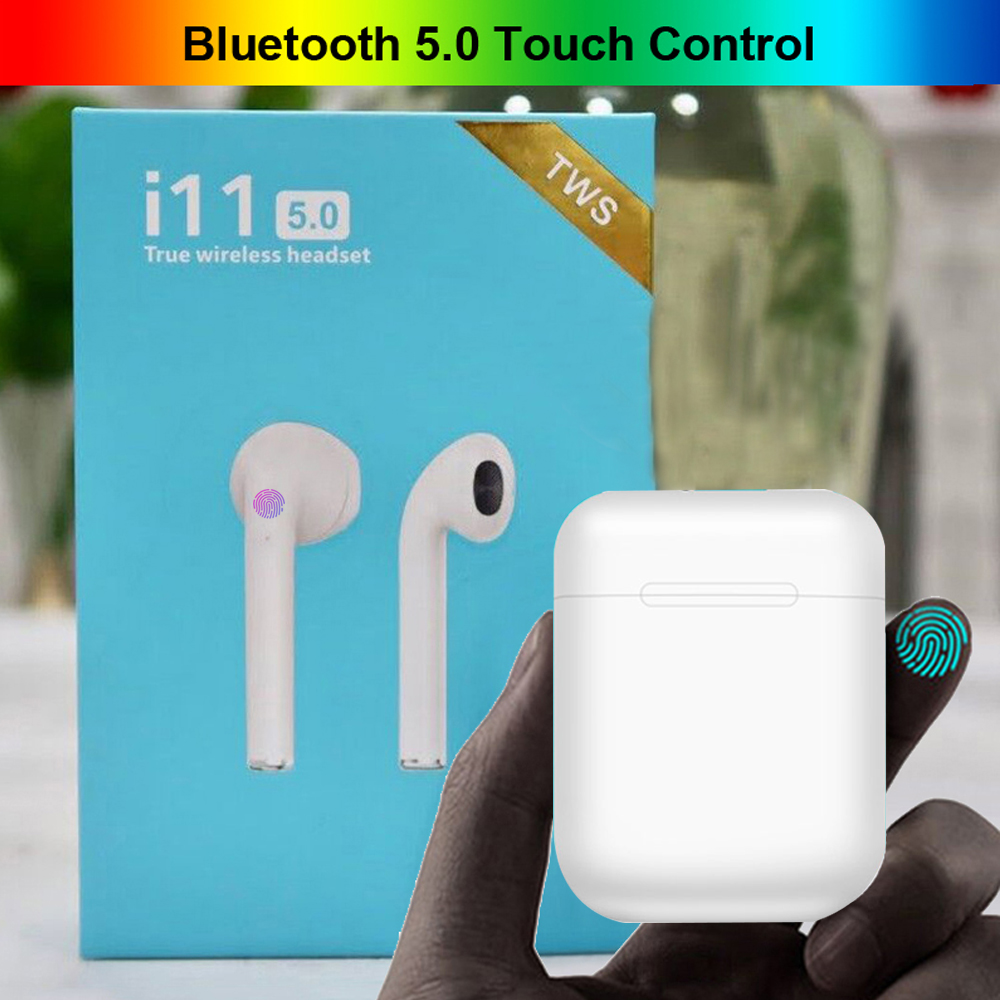 <font><b>i11</b></font> <font><b>TWS</b></font> <font><b>Bluetooth</b></font> <font><b>5.0</b></font> <font><b>Earphones</b></font> <font><b>Wireless</b></font> <font><b>Earpieces</b></font> Touch Control Headphones mini Earbuds With Mic For Phone PK i10 i20 <font><b>tws</b></font> i30 image