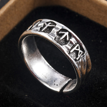 Punk Fashion Style Antique Retro Male Jewelry Viking Ring Female Black Amulet Vintage Norse Rune Rings For Women Men