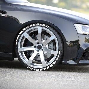 Image 4 - 3D Gummi Reifen Brief Auto Aufkleber Für Dacia Sandero Stepway R4 Xplore Techroad Streetway Komfort Auto Zubehör Reifen Aufkleber Kit