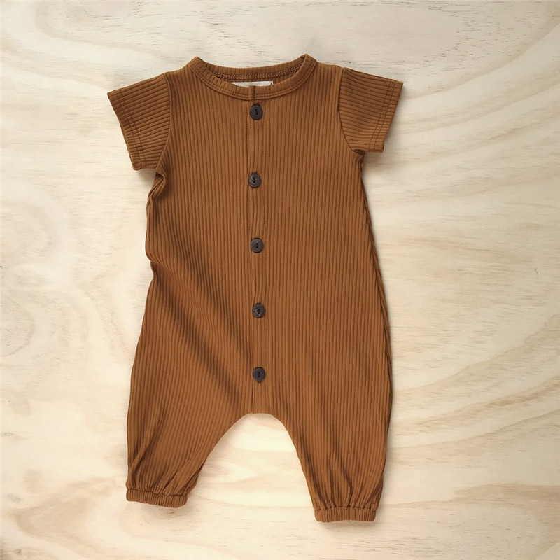 Рельефные летние комбинезоны для младенцев размером * ow, высококачественные модальные ребристые Комбинезоны для младенцев 5