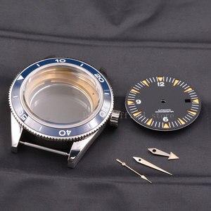 Image 3 - 時計ケース 41 40mm セラミックベゼル mens316 ss ダイヤル手フィット御代田 8205/8215 、 eta 2836 、 DG2813/3804 機械式腕時計防水