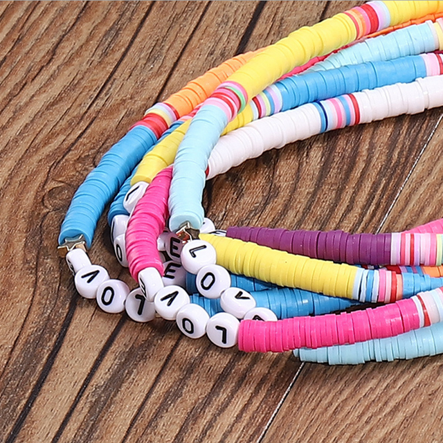 6mm Flat Round Polymer Clay Beads Chip Disk Loose Spacer Handmade Beads For DIY Jewelry Making Bracelet Finding Mixed Color #RT