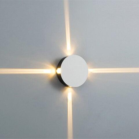 12 w led ao ar livre lampadas de parede a prova dwaterproof agua aluminio luzes