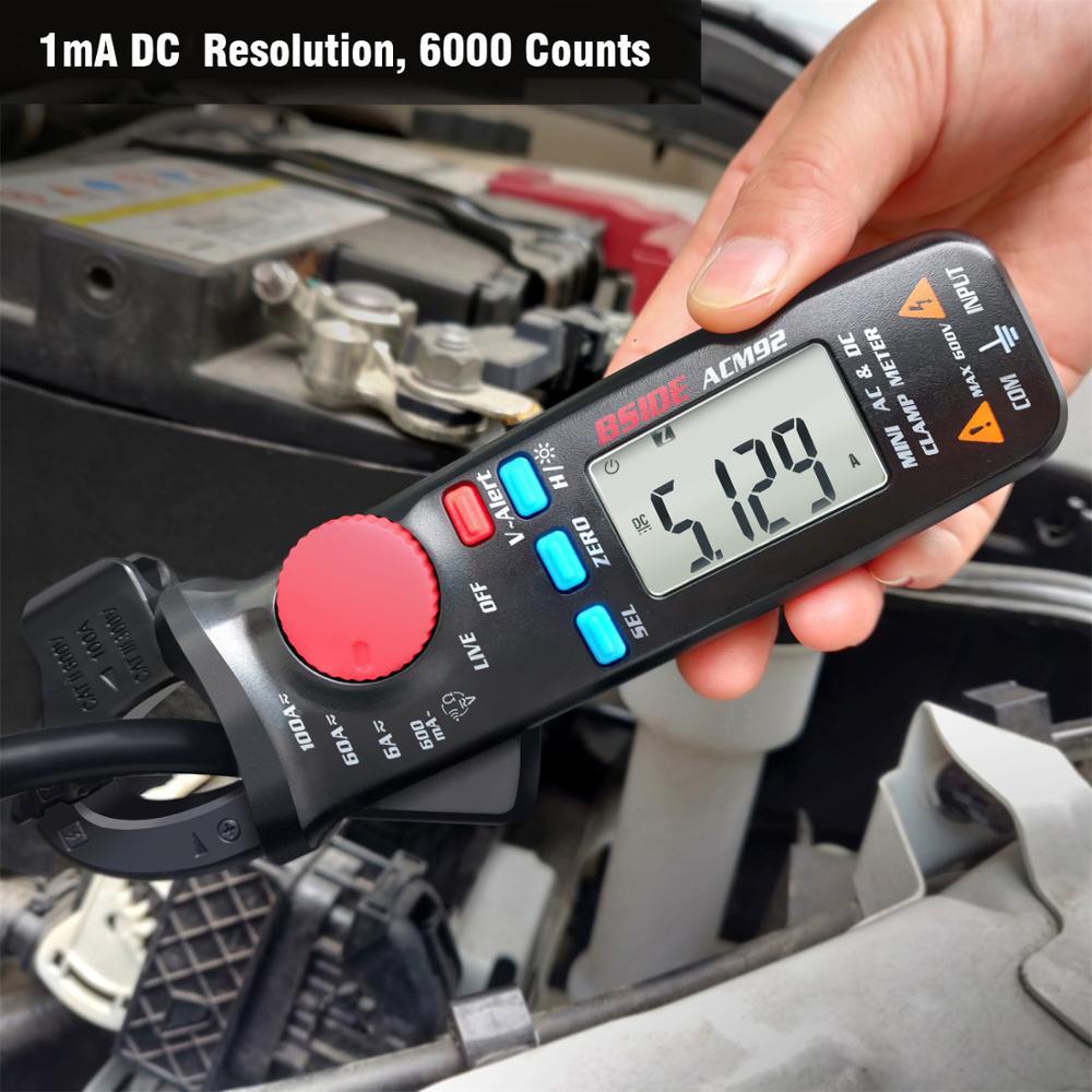Meter DC Ammeter Voltage Digital Repair Hz 100A Ohm 0 Multimeter NCV Continuity AC Tester Clamp 1mA 1 Car ACM92 BSIDE Current