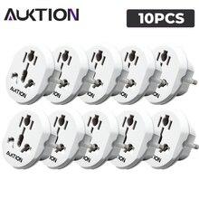 AUKTION – adaptateur universel de voyage ue, prises électriques 16A, convertisseur de prise de courant 250V AC, pour usage domestique et au bureau, 10 pièces