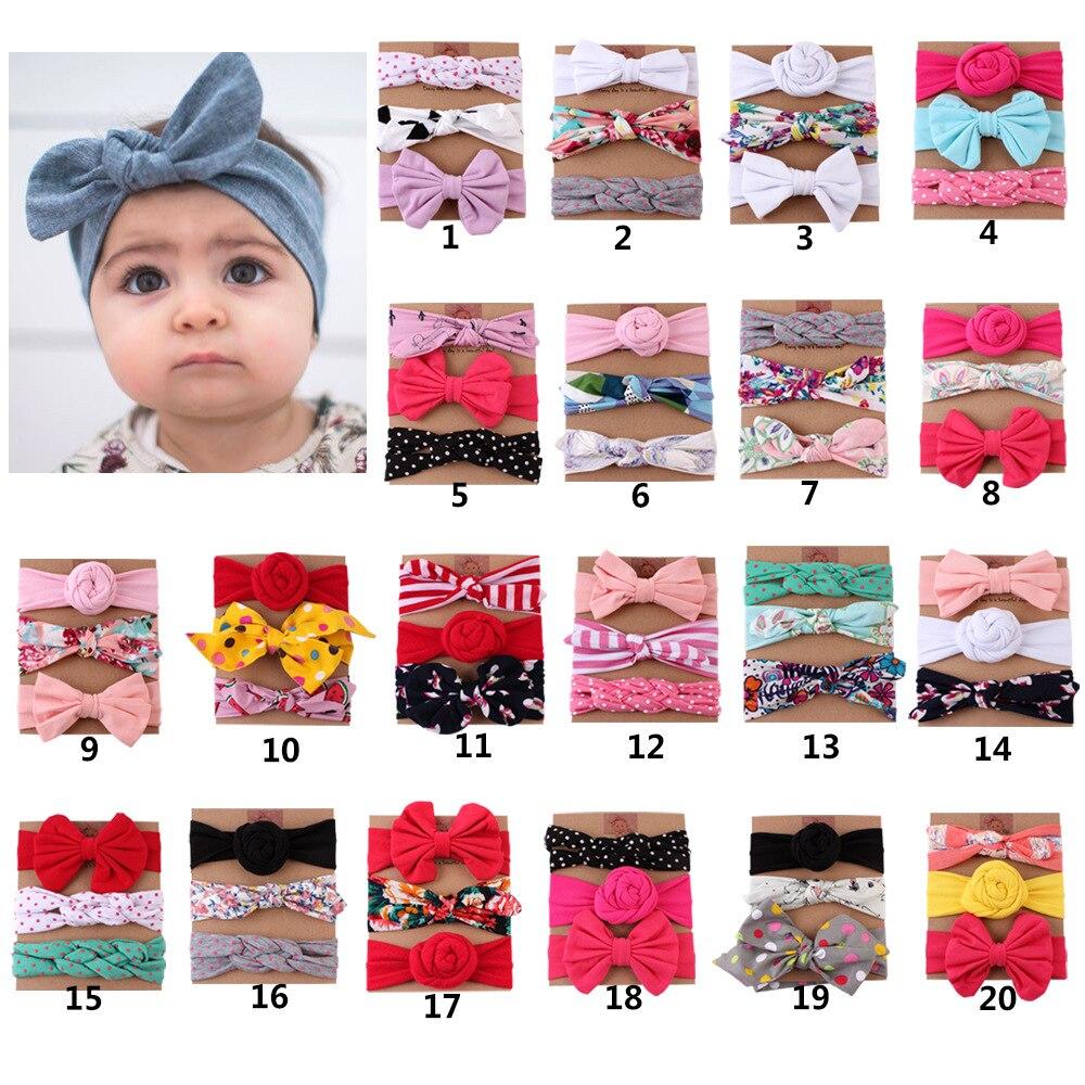 3pcs/lot Baby Headband Bow Diy Baby Headbands For Girls Baby Girl Headbands Bandeau Bebe Fille Baby Hair Accessories
