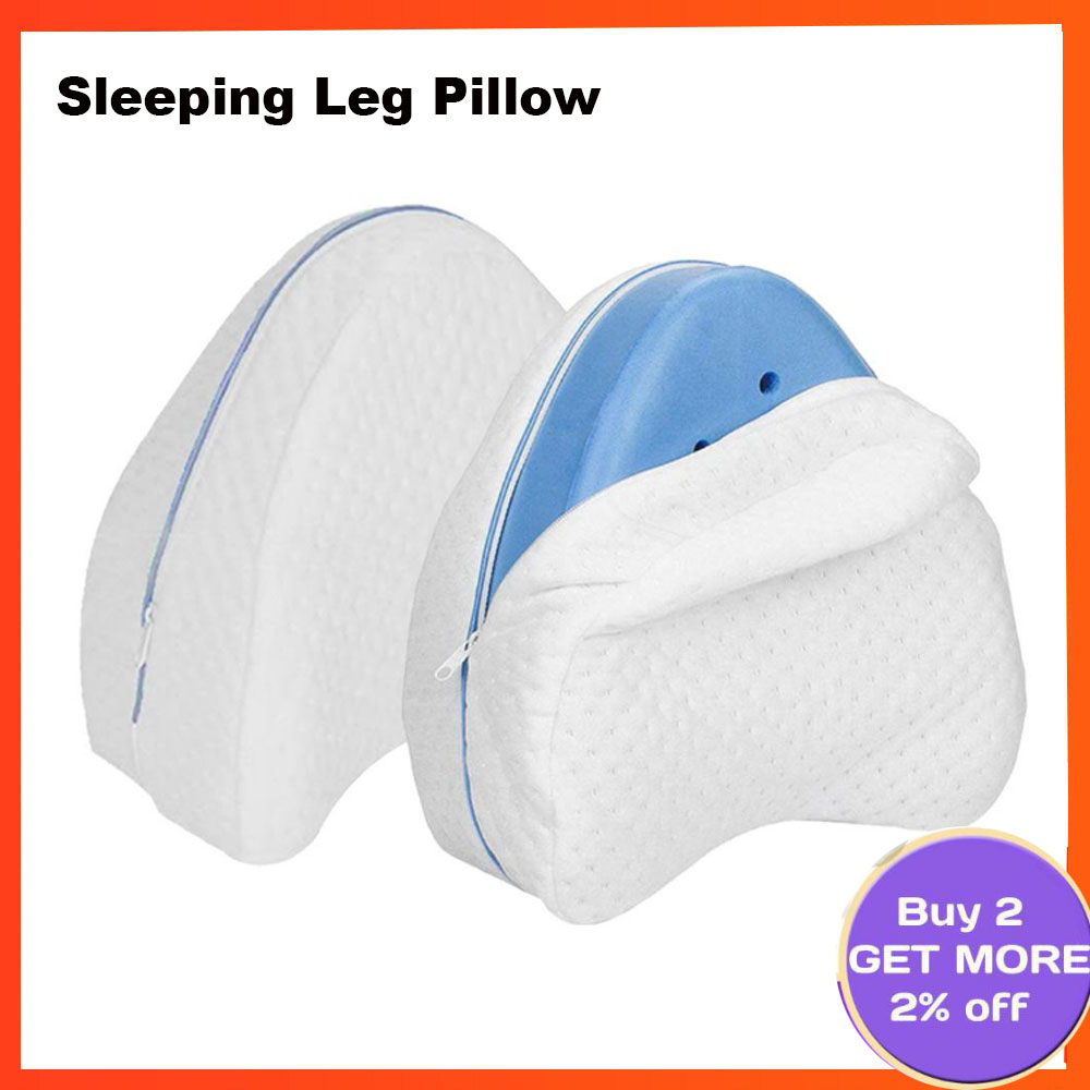 Knee Pillow Pain Relief Memory Foam I-Shaped// Apple-Shaped For Side Sleepers 1pc