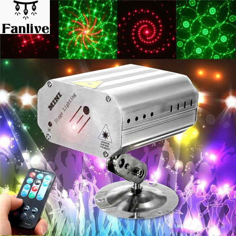 10 stücke LED Laser Projektor Bühne DJ Disco Licht Voice Control Musik Rhythmus Flash Licht Club Tanzen Party Bühne Wirkung beleuchtung