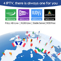 Arabic IPTV France Spain Italy Belgium for Android M3u IPTV Subscription Sweden Portugal SUBTV IUDTV QHDTV IPTV Germany French