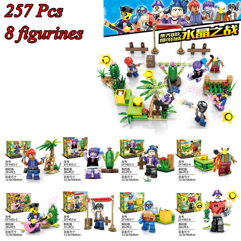 Brawl Game Figures Battle Scene Doll Anime Model Building Blocks Bricks Classic Kids Toys Compatible Legoinglys