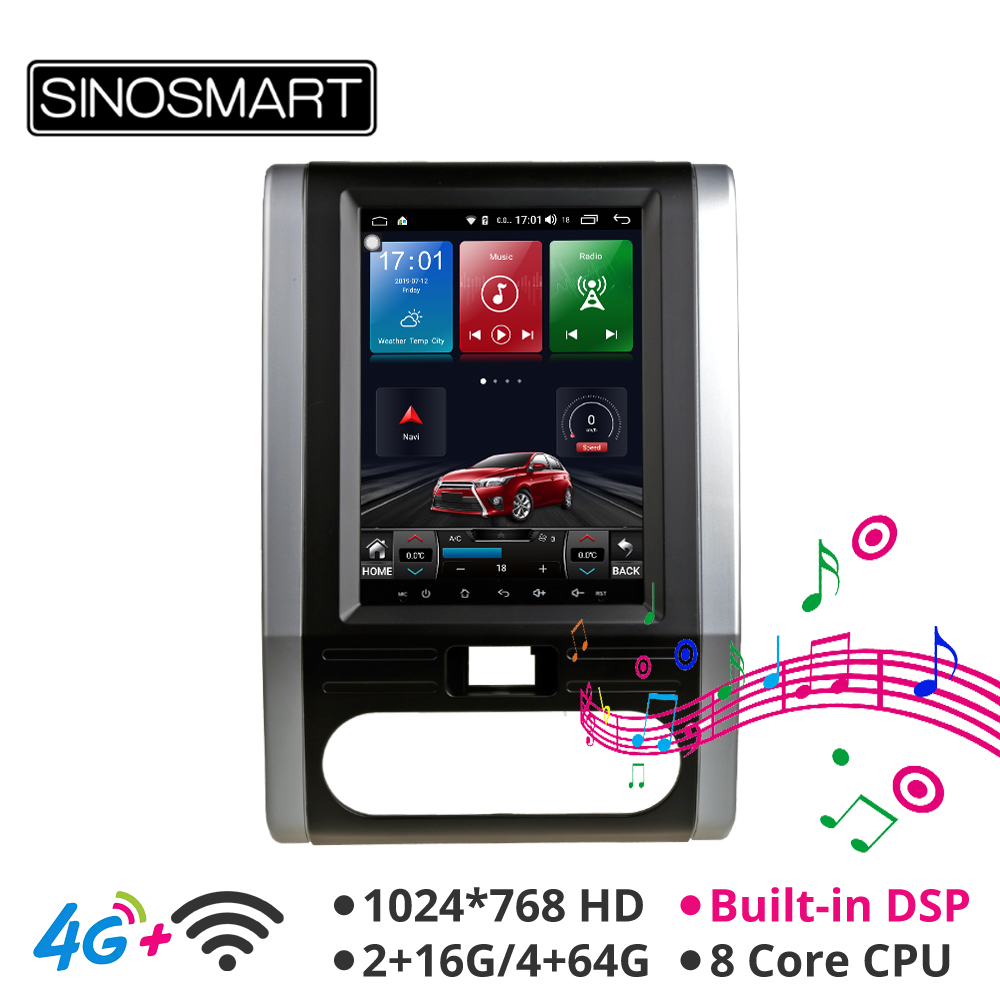 Sinosmart Andriod 8.1 Tesla Style HD Screen Car Gps Multimedia Radio Navigation Player For Nissan X-trail T31 MX6 2007-2014