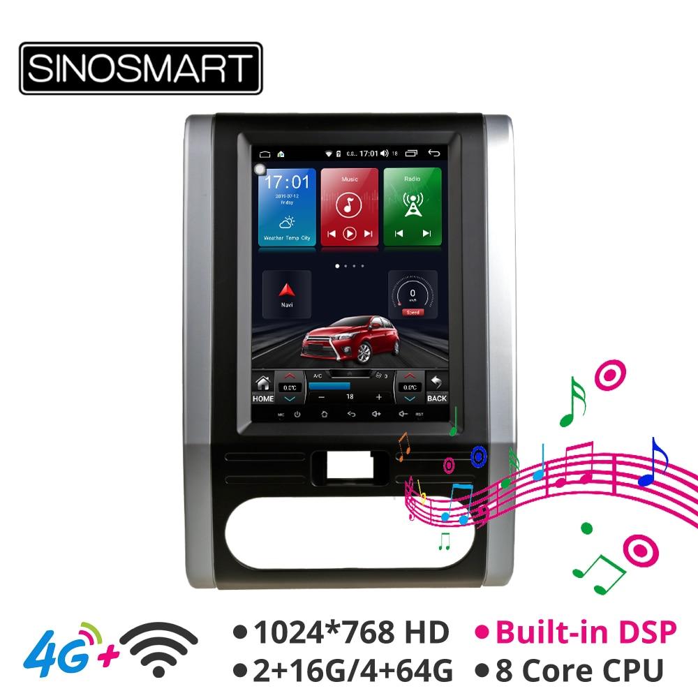 Sinosmart Andriod 8.1 Tesla Style HD Screen Car Gps Multimedia Radio Navigation Player For Nissan X-trail T31 MX6 2007-2014