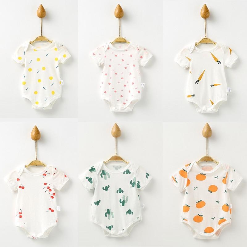 Infant Baby Kids Summer Clothes Baby Jumpsuit Outfits Newborn Unisex Rompers Roupas De Bebes Cotton Baby Toddler Jumpsuits