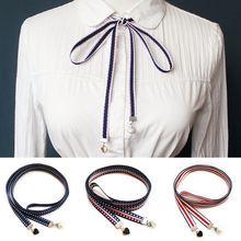 Модный новый галстук бабочка ручной работы с лентой Женская
