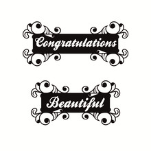 YaMinSanNiO Beautiful Word Dies Letter Frame Metal Cutting For crapbooking Embossing Cut Stencils Cards Craft New