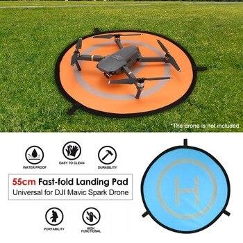 цена на Fast-fold Landing Pad 55cm 75cm 110cm  Universal FPV Drone Parking Apron Pad For DJI Spark Mavic Pro Drone Phantom 4 accessories