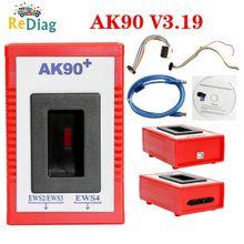 Программатор ключей AK90 + для BMW EWS2/3/4, считыватель кодов ключей V3.19, новейшая версия, программатор ключей AK90 ДЛЯ BMW, инструмент программировани...
