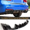 Автомобильный задний бампер диффузор для BMW 3 серии F30 M-Tech M спортивный бампер 2012-2016 задний диффузор спойлер из углеродного волокна четыре ст...