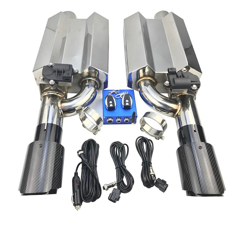 Válvula de escape silenciador 51mm63mm70mm76mm válvula elétrica silenciador + a.k cauda garganta silenciador válvula de escape carro controle elétrico