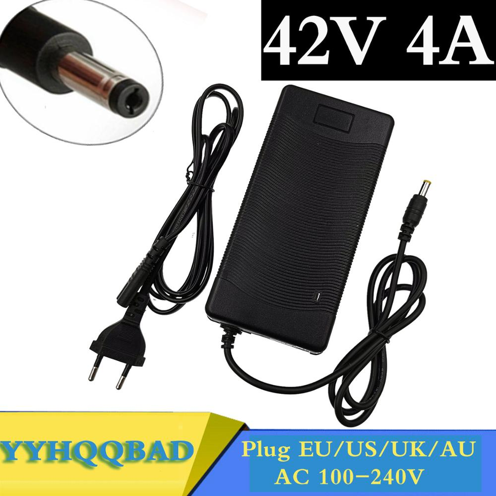 42V 4A Smart Battery Charger for 10Series 36V 37V Li-ion e-bike Electric Bicycle Battery Charger DC 5 5mm 2 1mm fast charging