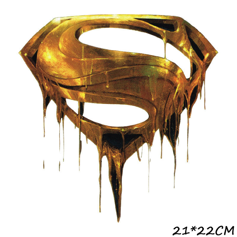 Superman Pattern Hot Transfer Printing DIY T-shirt Lovely Patches Clothes Stickers Badge