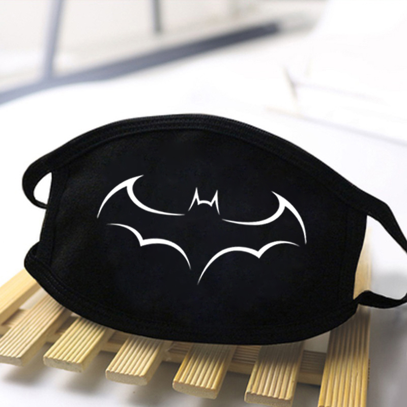 Unisex Batman Print Masks Fashion 2020 Protective Masks Reusable Adult Mouth Muffle Respirato Masks Man Dustproof Women Masque
