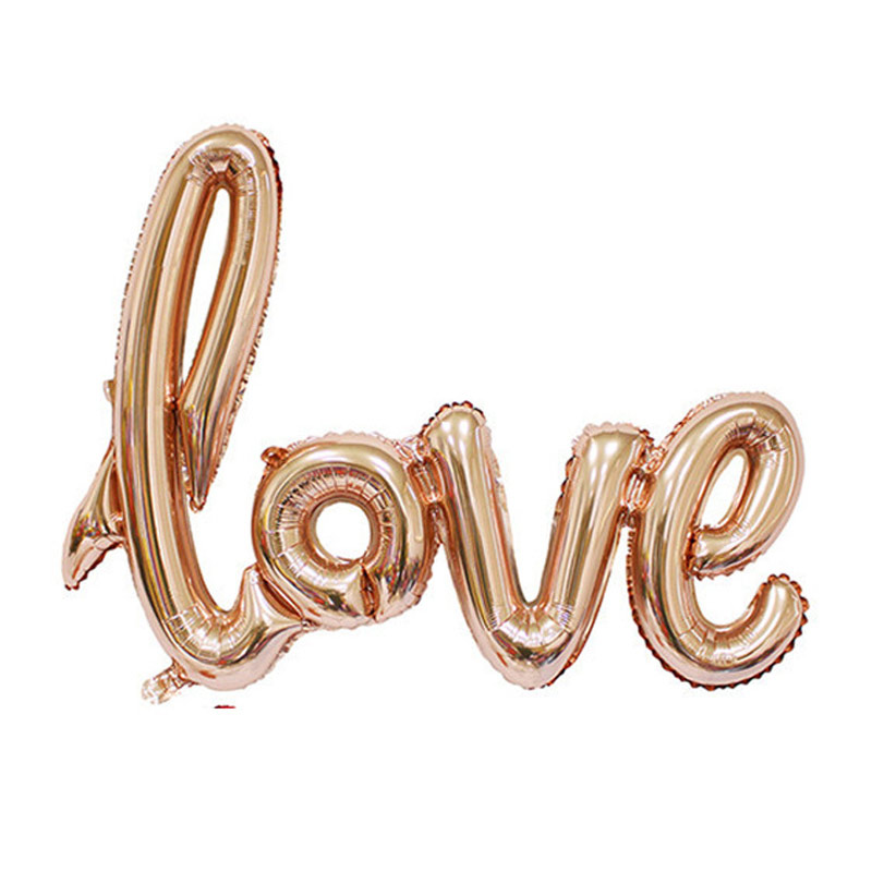 1 Pc L Size 108x64cm Golden Aluminum Inflate Toy Balloons Accessory Wedding Decors Party Decoration Supplies