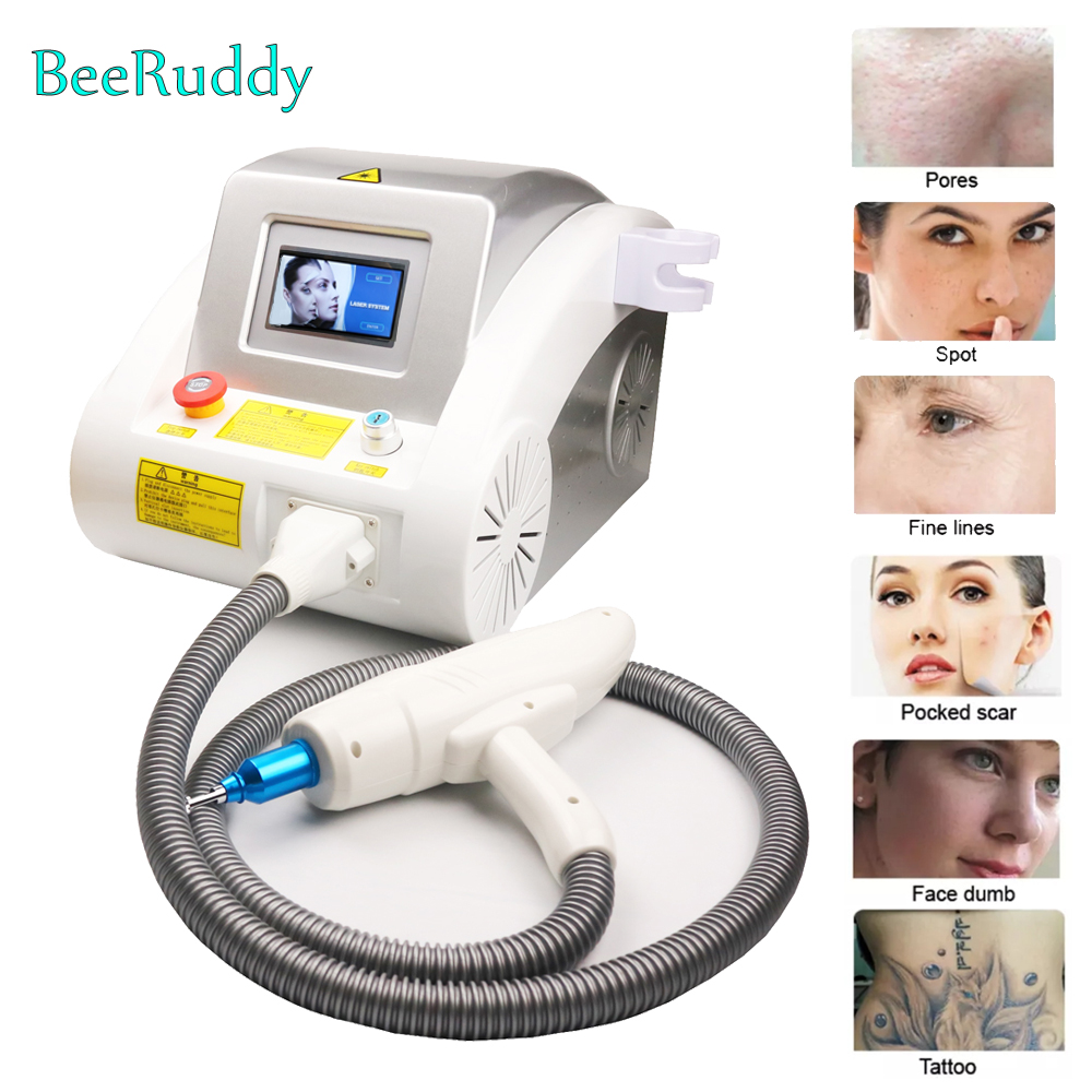 2020 Hot Sale Q Switched Nd Yag Laser Machine For Tattoo Removal Wrinkle Removal Use Laser Remove Tattoo Eyebrow