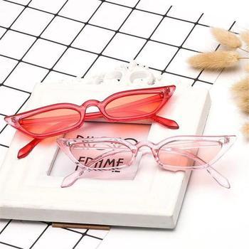 Kobiety mała ramka ostre okulary przeciwsłoneczne klasyczne kocie oko okulary przeciwsłoneczne anty-uv Trend w modzie wszystkie mecze damskie okulary przeciwsłoneczne tanie i dobre opinie CN (pochodzenie) Jeden rozmiar Unisex MULTI UV 400 Sunglasses male and female length 155mm height 22mm daily life travel beach party street dress gift