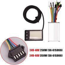 Электрический бесщеточный контроллер, 24-48 В, 250-350 Вт, ЖК-дисплей, панель для велосипеда, скутера, мотора, велосипеда, аксессуары