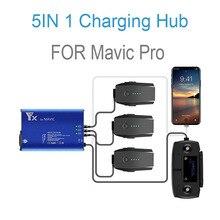 Dla Mavic Pro rozdzielacz ładowarki baterii stacja ładująca 5 w 1 dla Mavic Pro Platinum bateria do drona równoległa inteligentna szybka ładowarka