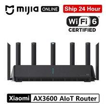 Xiaomi ax3600 aiot roteador wifi 6 5g wpa3 repetidor wifi extensor xiomi dupla-faixa 2976mbs gigabit taxa amplificador de sinal externo