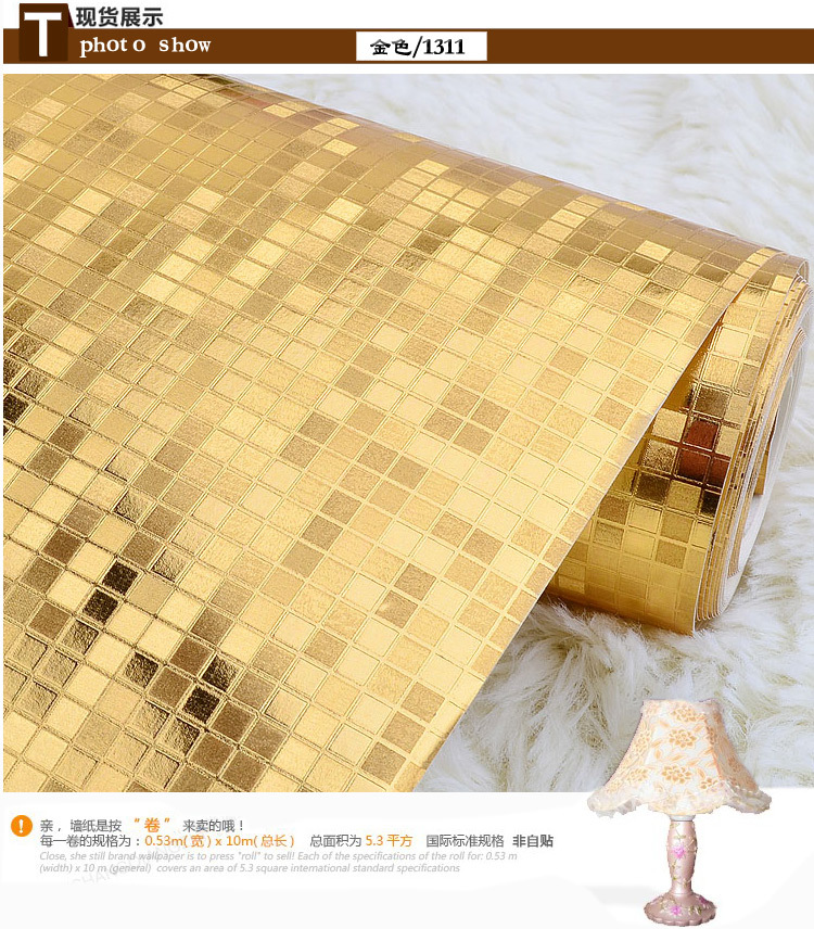 Gold Foil Gold Wallpaper Ceiling Cover Silver Waterproof KTV Bar Box Wallpaper Manufacturers Direct Selling