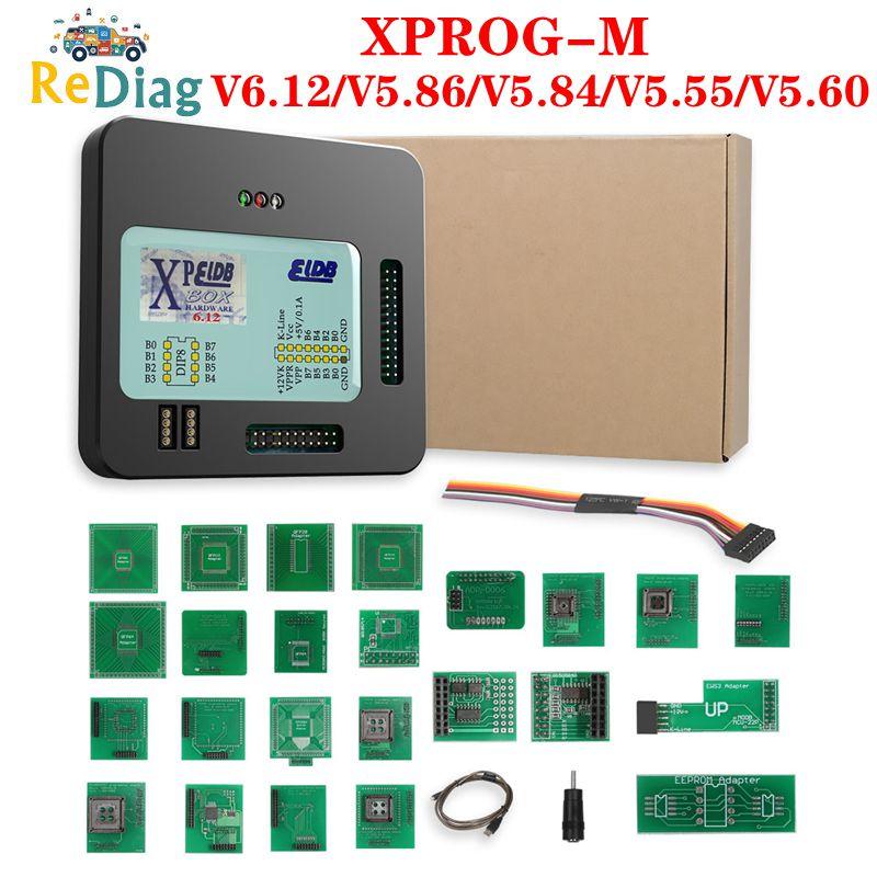 Best Price X Prog-M Xprog M V6.12/V5.86/V5.84/V5.60/V5.55 ECU Chip Tunning Tool Programmer XProgM Box 8 Soic Clip ECU Programmer
