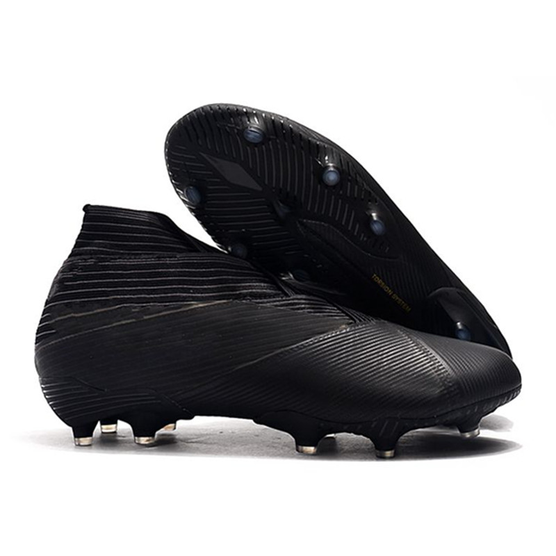 2019 MLLZF Mens Best Quality Nemeziz 19+ FG Football Boots High Ankle Soccer Shoes Cleats,Free Shipping