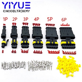 1 set 1/2/3/4/5/6 Pin Way AMP Tyco Super Sealed Automotive Wire Connector Electrical Plug Terminals for Cars недорого
