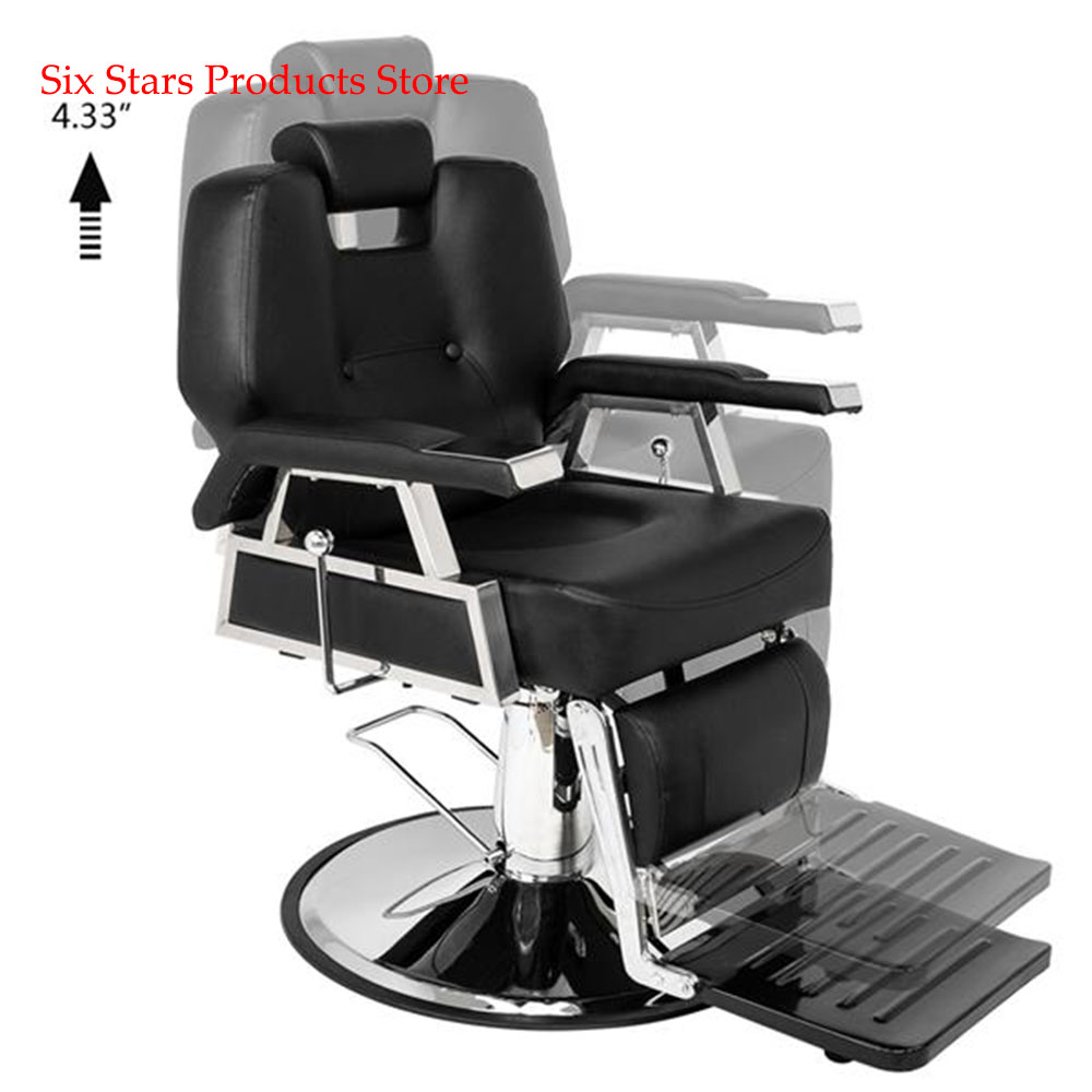 Hair Beauty Equipment Hydraulic Barber Chair Modern Black Styling Salon Haircut HZ8706 Professional Portable Hydraulic Lift