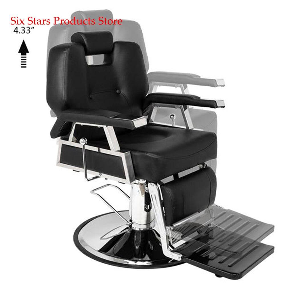 Hair Beauty Equipment Hydraulic Barber Chair Modern Black Styling Salon Haircut HZ8706 Professional Portable Hydraulic Lift