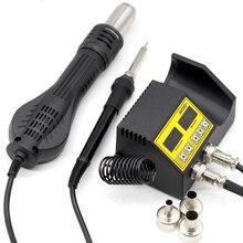 Station de soudure, souffleur dair chaud, pistolet thermique, détection intelligente, soudage à Air frais, outil de réparation de fer à souder 8586D SMD BGA