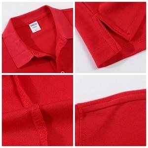 Image 3 - Autumn High Quality Polo Shirts customization Female Casual Solid Sweatshirt Women Cotton Long Sleeve Tops Shirt Plus Size