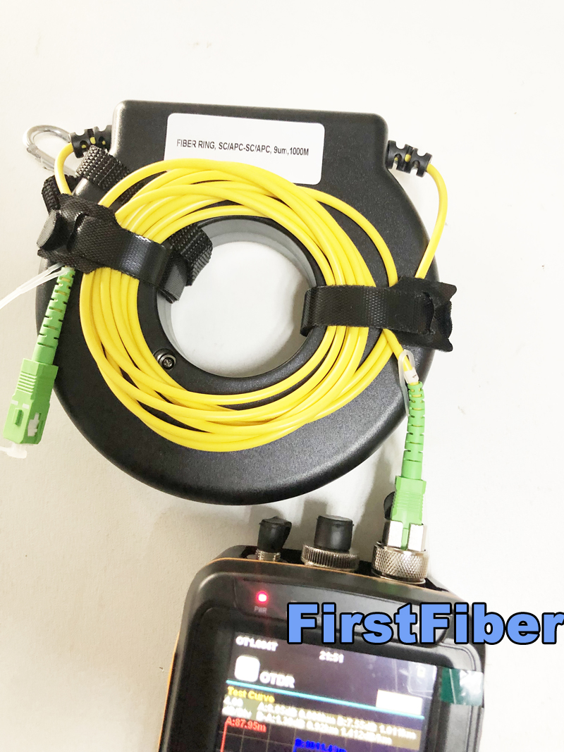 OTDR Launch Fiber Reel G657 LC APC LC UPC Fiber Spool Launch Fiber Fiber Ring SC APC
