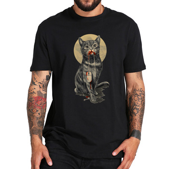 EU Size 100% Cotton Cat Digital Print T Shirt Summer New Arrival Short Sleeve Male Tshirt Homme - discount item  40% OFF Tops & Tees
